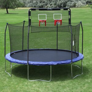 Double Basketball Hoop - Fits 12' Round 6 Pole Skywalker Trampoline