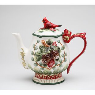 Evergreen Holiday Teapot