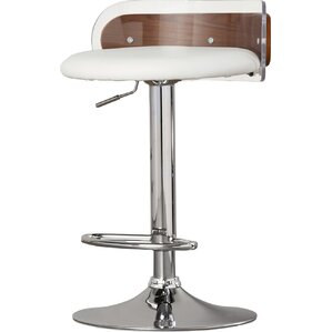 Hurley Adjustable Height Swivel Bar Stool by Wade Logan