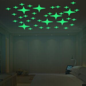 Stars Glowing Wall Decal