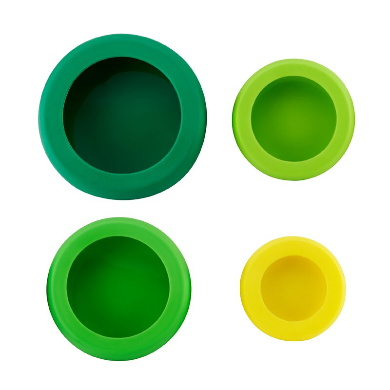 Farberware Reusable Silicone 4-Container Food Storage Set