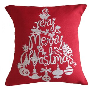 Martell Christmas Decorative Embroidered Burlap Pillow Cover