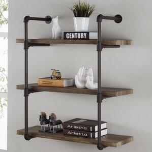 Simonne 3 Tier Industrial Pipe Wall ShelfWall   Display Shelves You ll Love   Wayfair. Shelves For Living Room Wall. Home Design Ideas