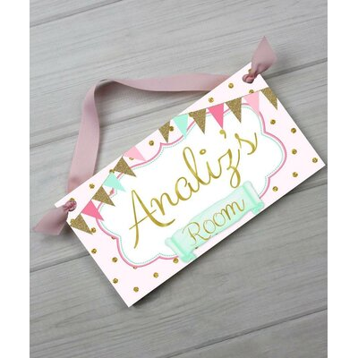 toad and lily baby nursery personalized door sign wayfair