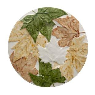 Plane Tree Leaves Dinner Plate (Set of 4)  sc 1 st  Wayfair & Palm Tree Dinner Plates | Wayfair