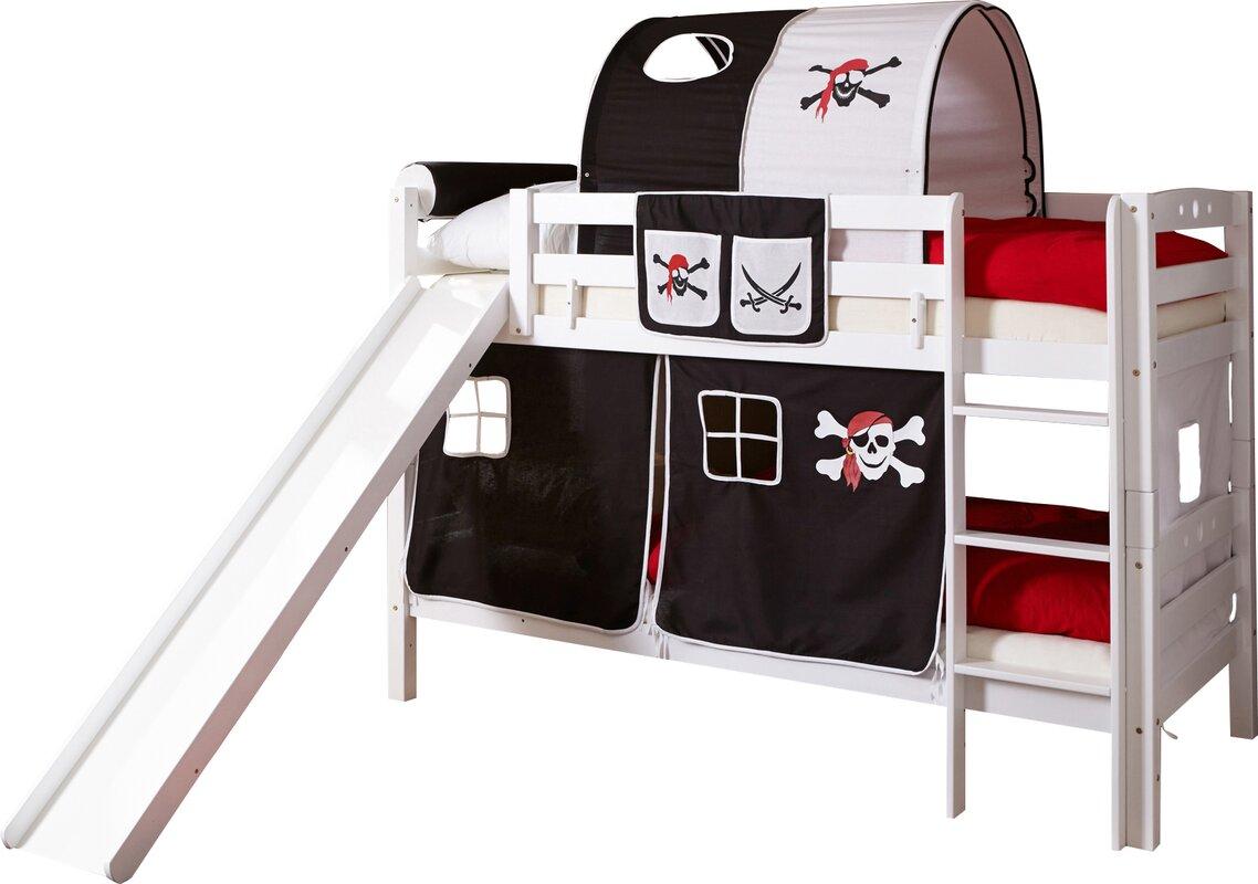 ticaa etagenbett lupo mit rutsche 90 x 200 cm bewertungen. Black Bedroom Furniture Sets. Home Design Ideas