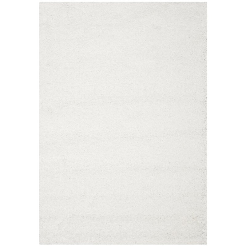 zipcode design holliday white area rug & reviews | wayfair