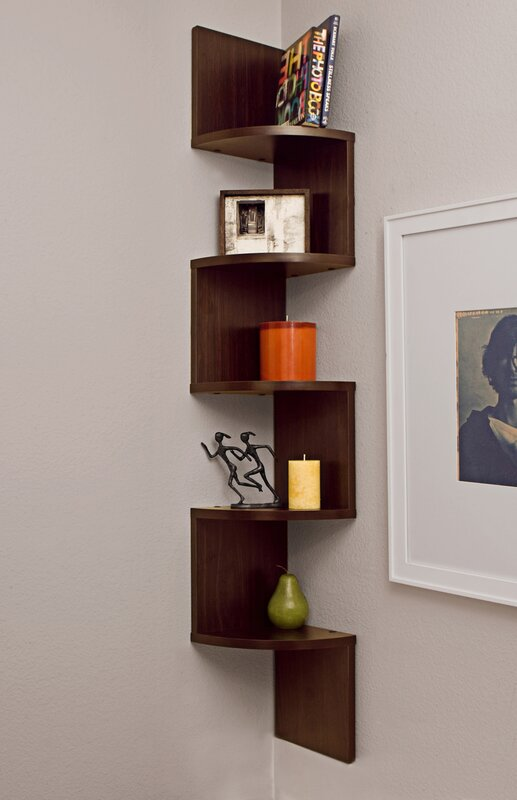 Wall Shelf wade logan ridgeway corner wall shelf & reviews | wayfair