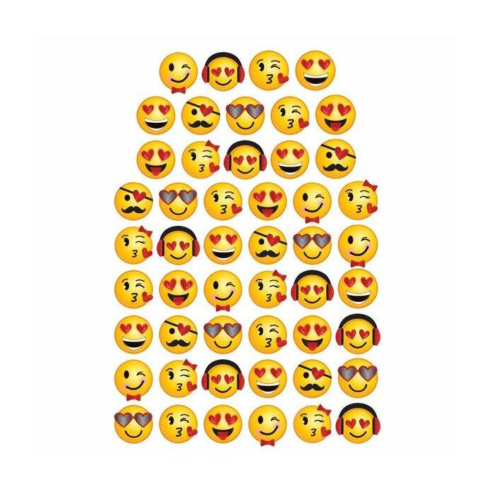 Amscan Valentine S Day Emoji Cutouts Super Value Pack Wayfair Ca