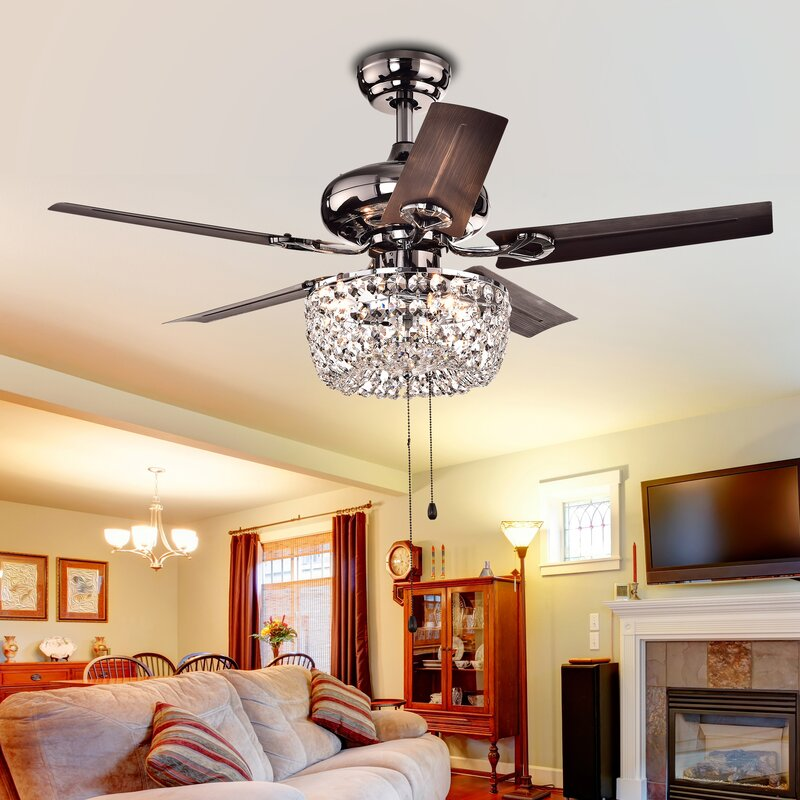 Astoria Grand Aslan 3 Light Bowl 5 Blade Ceiling Fan