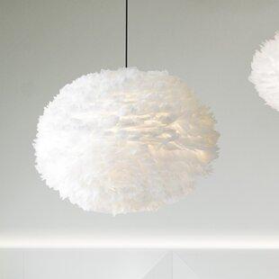 Eos 1 Light Modern Feather Globe Plug In Pendant