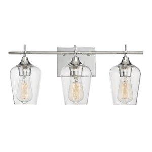 Modern vanity lighting allmodern staci 3 light vanity light mozeypictures Gallery