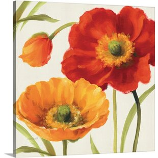 Poppies yellow wall art youll love wayfair poppies melody iii by lisa audit painting print mightylinksfo