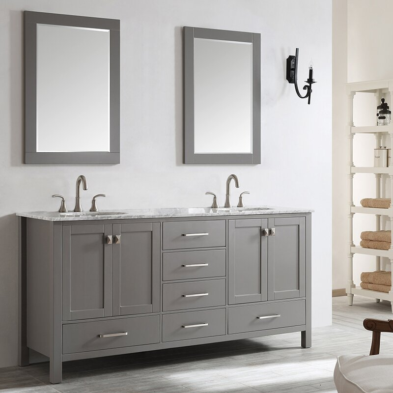 Beachcrest Home Newtown 72 Quot Double Vanity Set With Mirror