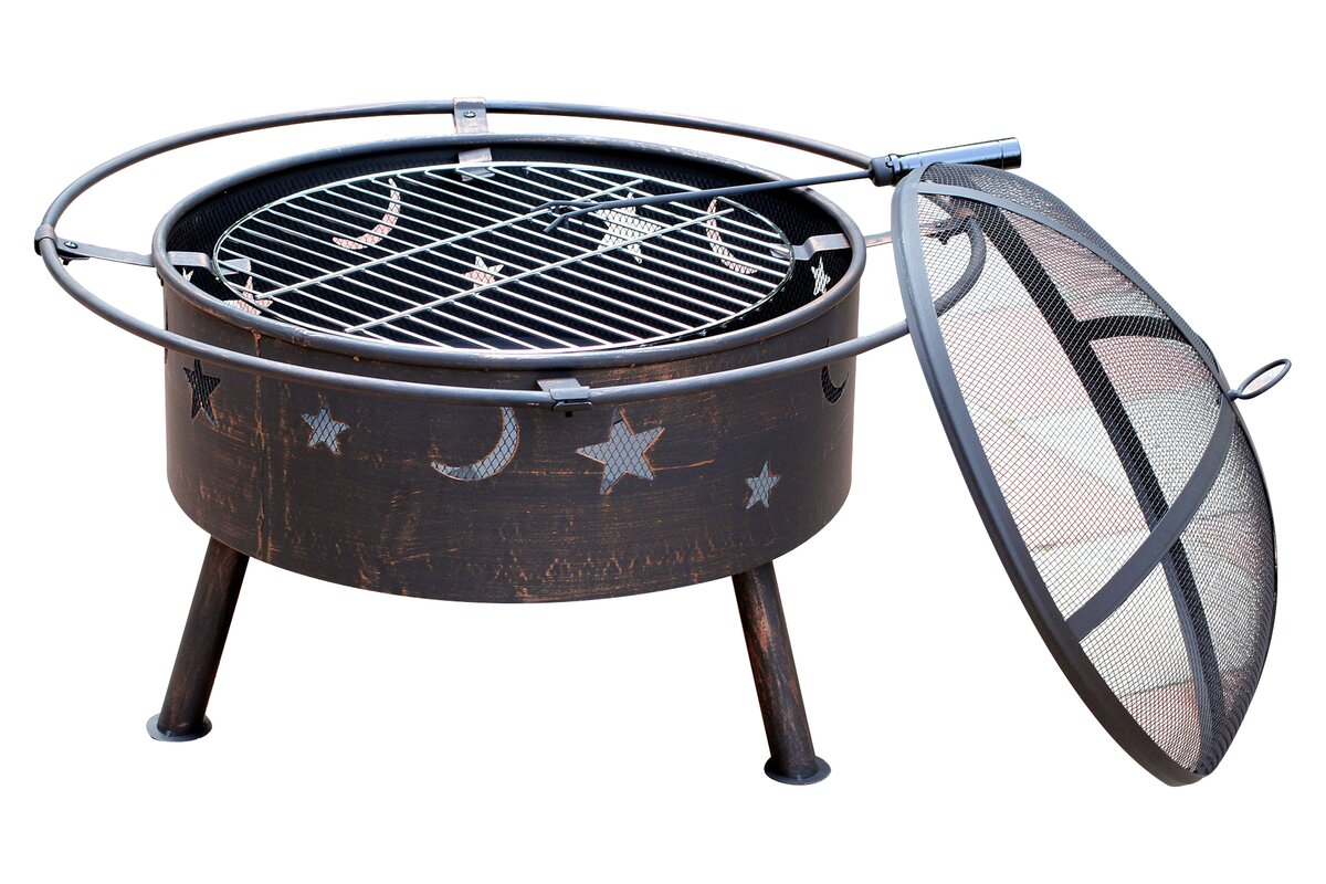 Jeco Inc. Starlight Steel Wood Burning Fire Pit & Reviews
