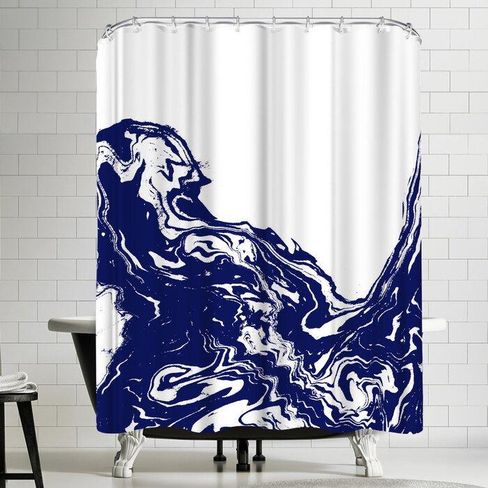 Indigo Wave Shower Curtain