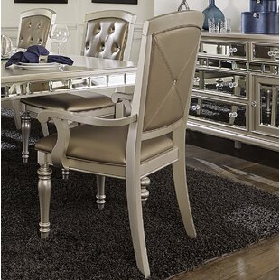 Lusher Upholstered Dining Chair with Arms (Set of 2)