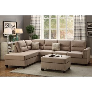 Bobkona Toffy Reversible Sectional by Poundex