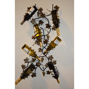 7 Bottle Wall Mounted Wine Rack by J & J Wire