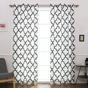 Black White Curtains Drapes Youll Love Wayfair