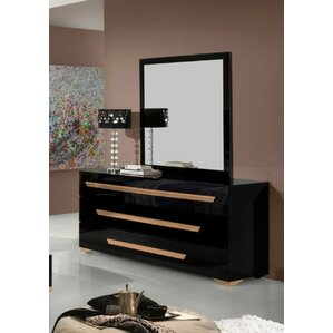 Ertha 3 Drawer Dresser with Mirror by Willa Arlo Interiors