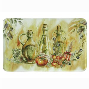 Olive Oil Memory Foam Kitchen Mat