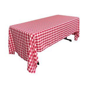Polyester Gingham Checkered Rectangular Tablecloth