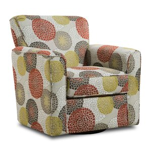 Simmons Upholstery Roulston Swivel Armchair by Red Barrel Studio