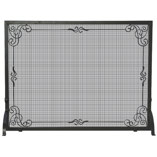 Superior Single Panel Wrought Iron Fireplace Screen