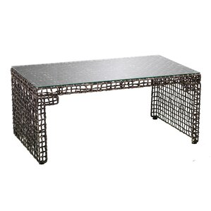 Akersville Woven Coffee Table by World Menagerie