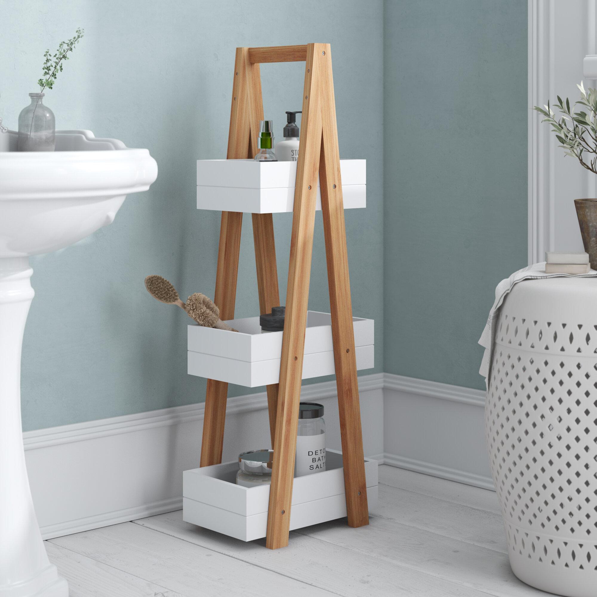 Wayfair & Wolter 30 x 81cm Bathroom Shelf