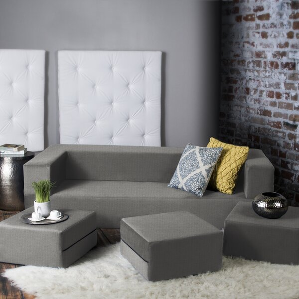 Eugene Modular Sleeper Sofa With Ottomans Reviews Allmodern