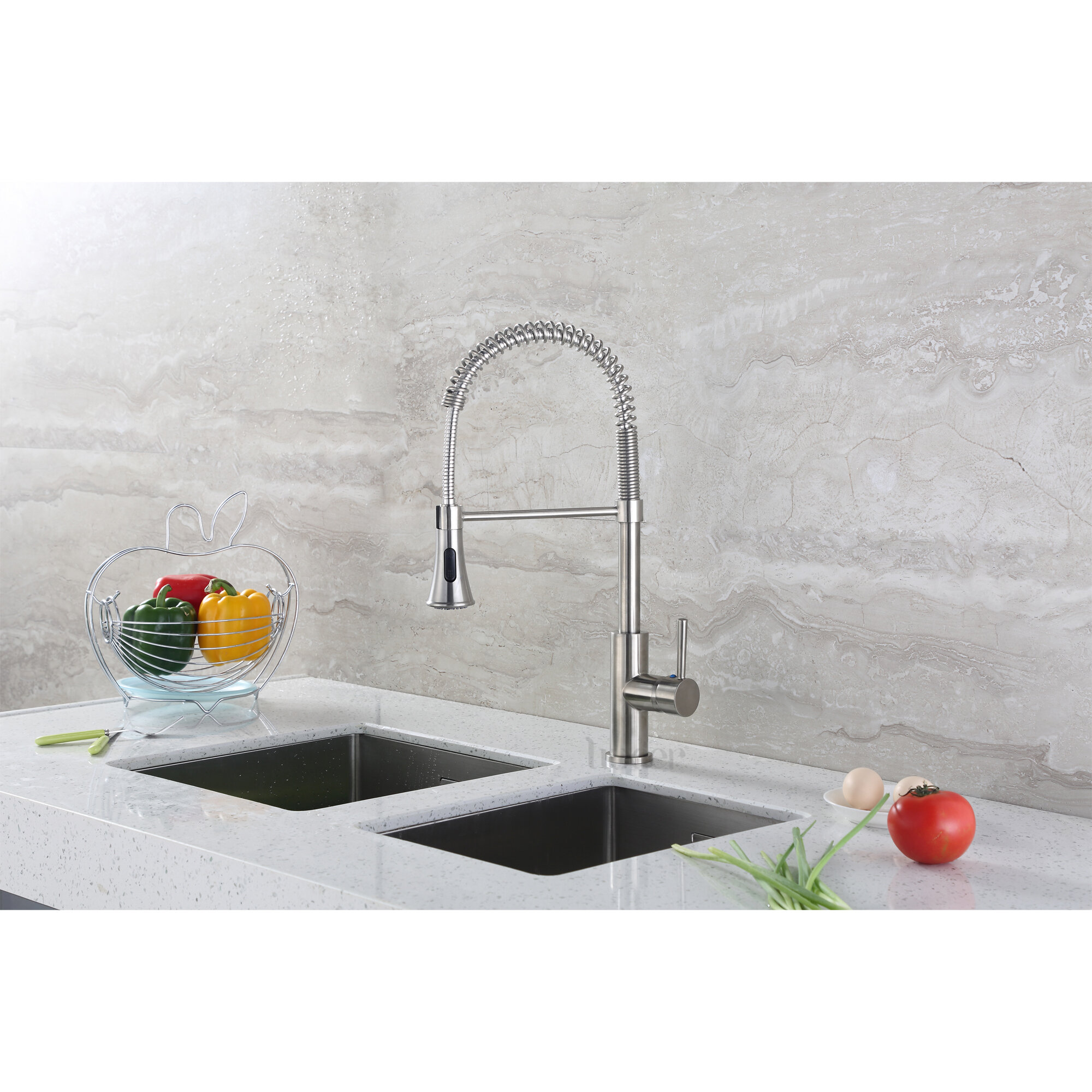 Find the Perfect Brushed Nickel Kitchen Faucets | Wayfair
