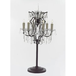 Crystal chandelier table lamp wayfair cooper crystal 35 table lamp aloadofball Image collections