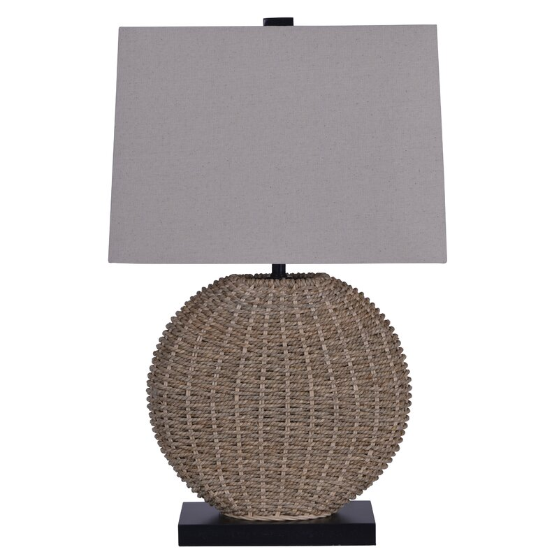 Highland dunes brantwood woven rattan 24 table lamp reviews wayfair brantwood woven rattan 24 table lamp aloadofball Choice Image
