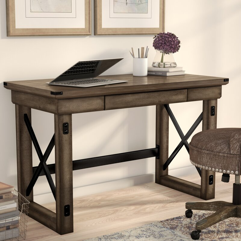 Work In Coziness 20 Farmhouse Home Office Décor Ideas: Laurel Foundry Modern Farmhouse Gladstone Writing Desk