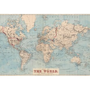 Wall murals youll love wayfair gilbertson map of the world wall mural gumiabroncs Image collections