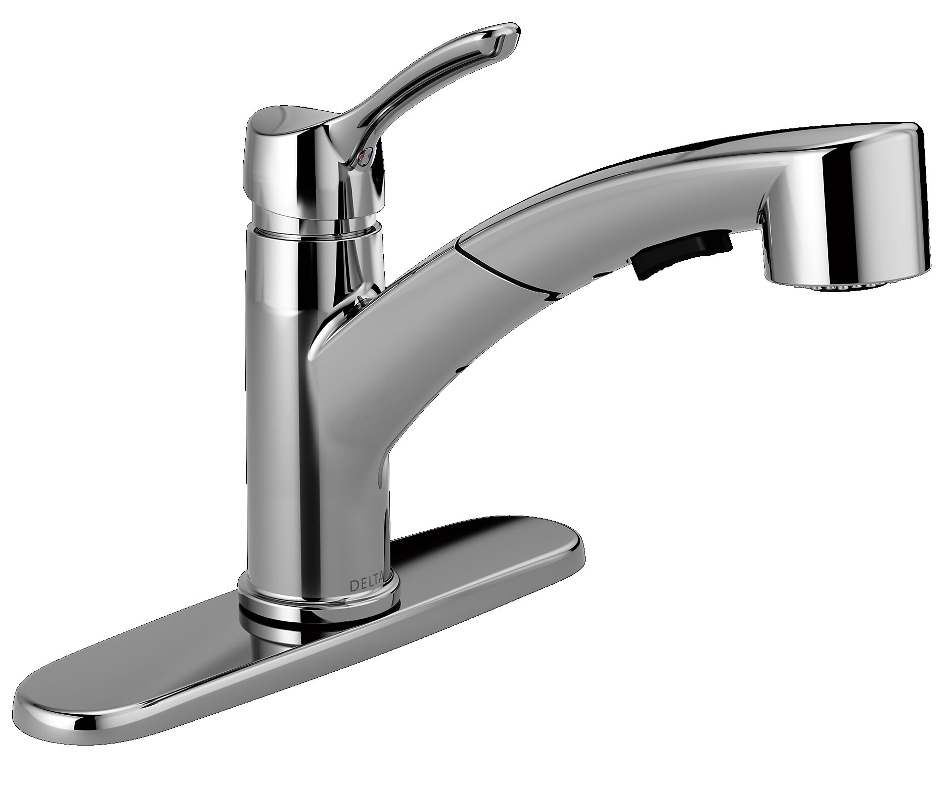 Delta Collins Single Handle Pull Out Kitchen Faucet with Diamond ...