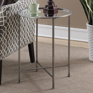 Wiscasset Mirrored End Table by House of Hampton