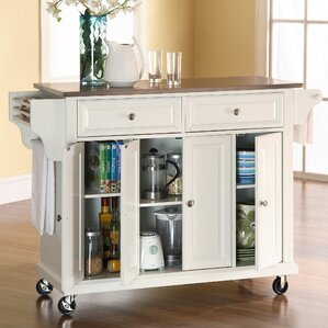 Pottstown Kitchen Island With Stainless Steel Top Pictures