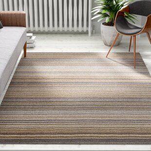 Nassar Hand-Woven Wool Brown Rug by Caracella