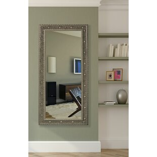 Silver Beaded Floor Mirror | Wayfair