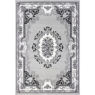 Traditional Grey Area Rug by Rosalind Wheeler