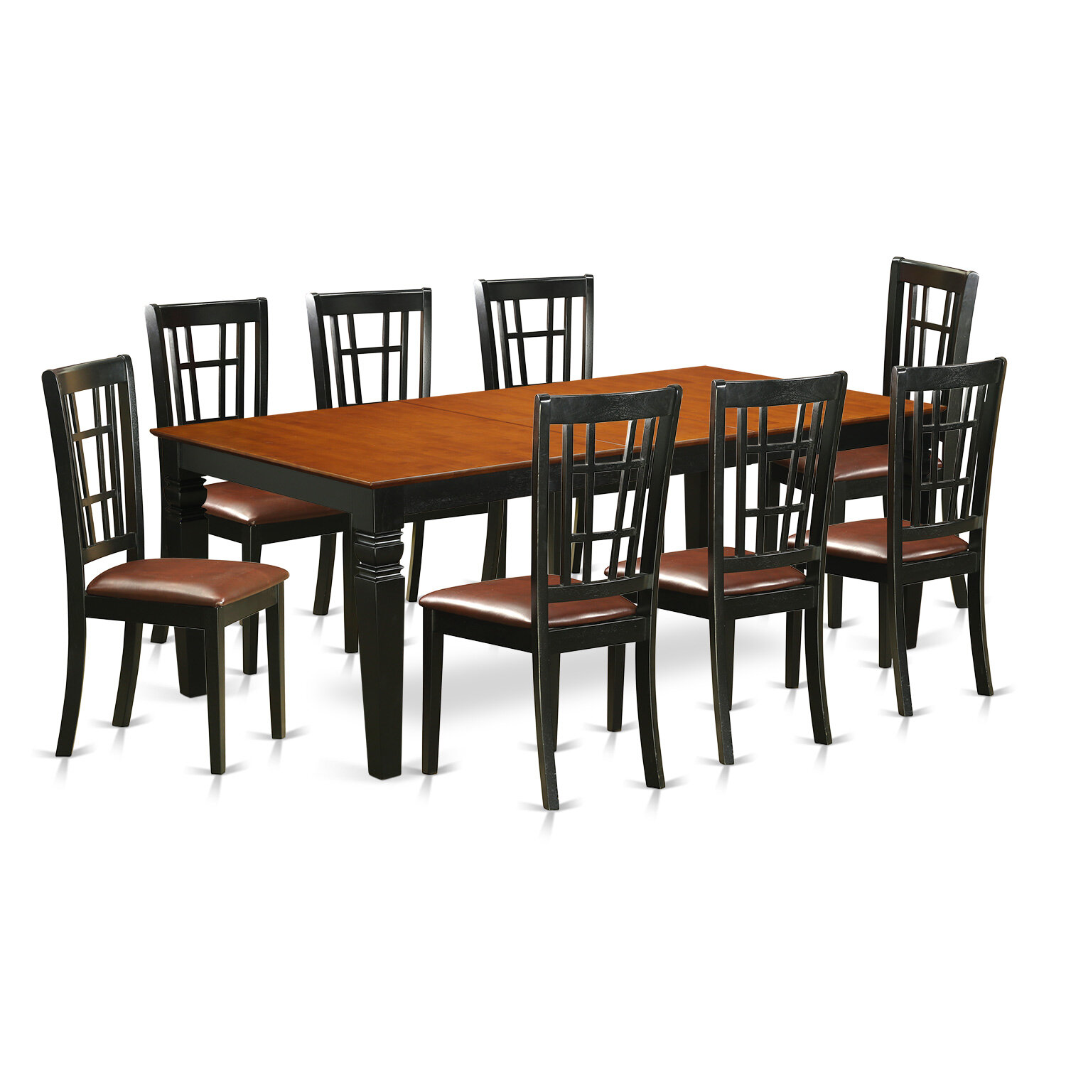 Darby Home Co Beesley 9 Piece Blackcherry Wood Dining Set Wayfair