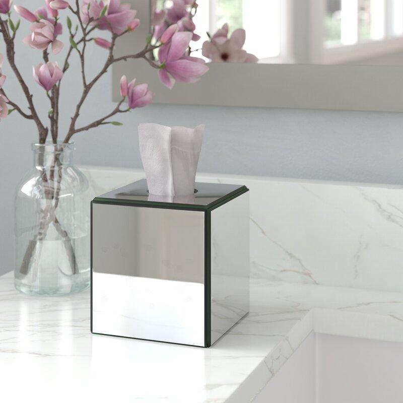Willa Arlo Interiors Avenall Crystal Mirror Tissue Box