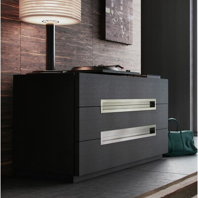 Wade Logan Cleobury 3 Drawer Dresser Color: Gray