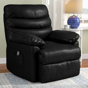 Leather Small Recliners You\'ll Love | Wayfair