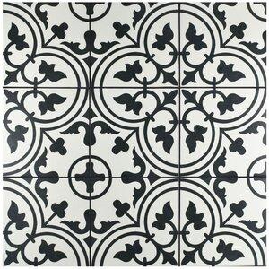 black and white floor tile. Artea 9 75  x Porcelain Field Tile in Black White Floor You ll Love Wayfair
