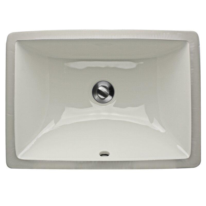 Nantucket Sinks Great Point Rectangular Undermount Bathroom Sink