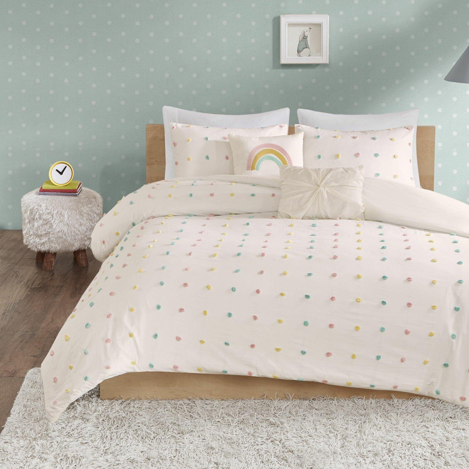 . Littlehampt Cotton Jacquard Pom Pom Comforter Set